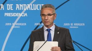 Miguel Ángel Vázquez, portavoz del Gobierno que preside Susana Díaz.