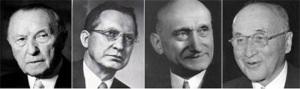 Los Padres de la integración europea: Adenauer, De Gaspari, Shuman y Monnnet