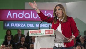 Susana Díaz, escenificando su adelanto electoral