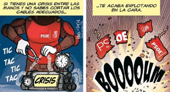 La bomba de la crisis del PSOE que estalla