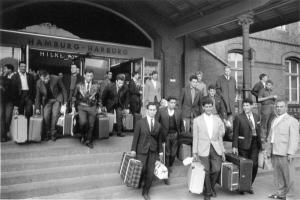 Estación de Hamburgo, punto de lleada de inmigrantesm