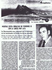Pedro Hidalgo, alcalde de San Roque, en su reivindicación de Gibraltar