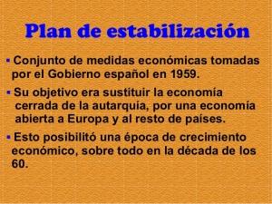 Objetivos del Plan de Estabilización de 1959