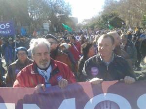 Los manifestantes que no figuran en las estadísticas, por ejemplo los del Paseo del Prado a Atocja en el momento que intervenían en Sol