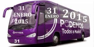 El cartel de la marcha del cambio de convocatoria de Podemos