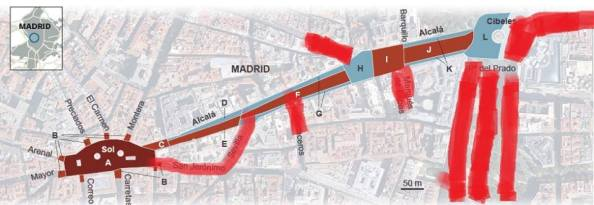 Cálculo que sobre el gráfico de El País pude comprobar, y en contacto telefónico con amigos asistentes, llegando a contabilizar 244.000 personas