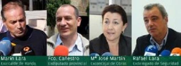 Los cuatro ediles del PSOE detenidos en Ronda en la operación anticorrupción