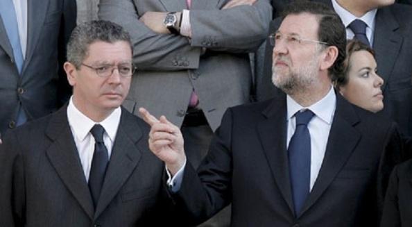 Mariano Rajoy, su dedo y Alberto Ruiz-Gallardón