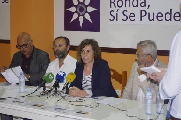 Rueda de prensa en Ronda, junto a Juanjo Merino, coordinador de