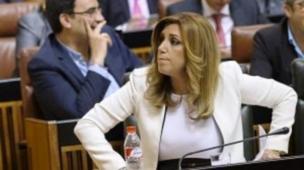 La candidata socialista a presidenta de la Junta de Andalucía, Susana Díaz, no superó la segunda votación para su investidura