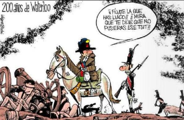 Hasta la derrota de Napoleón en Waterloo se debió a un twist