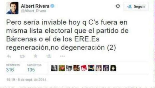 Lo que dijo Albert Rivera sobre la corrupción del PP y del PSOE