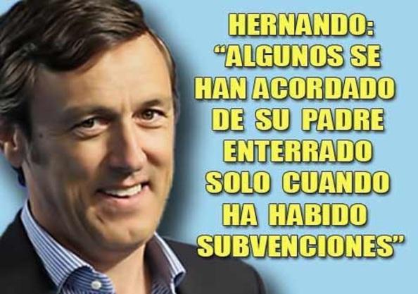 Rafael Hernando, portavox del PP en el Congreso de Diputados