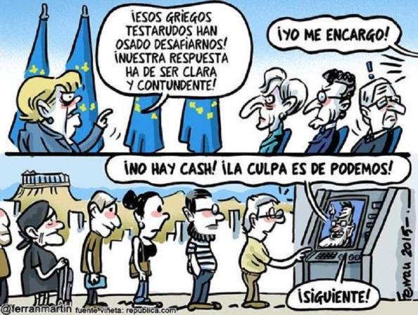 Ni el corte de la liquuidez, ni los sabios consejos de Rajoy calaron en el electorado griego