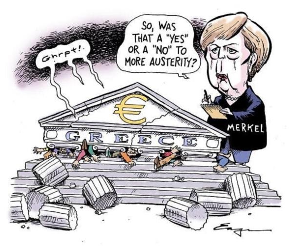 Merkel, como buena Talibán: No dejar piedra sobre piedra