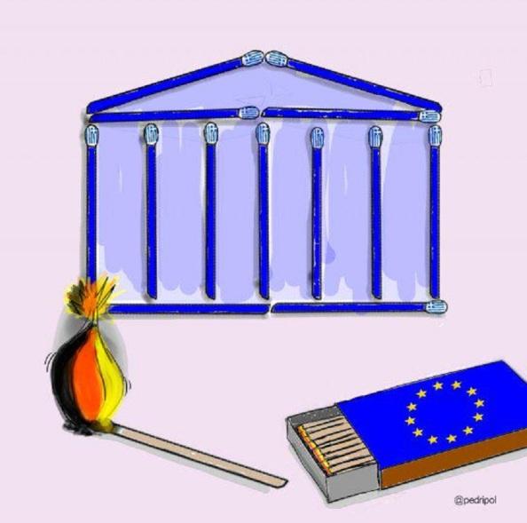 Prender fuego a Grecia