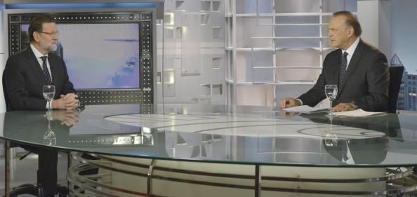 Rajoy en la entrevista del lunes 6 de julio en el Telediario de la noche, 21 horas, del canal Telecinco que presenta Pedro Piqueras. Allí manifestó :