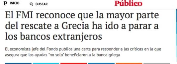 Los de siempre, forrándose a cuenta de la llamada deuda griega