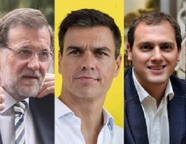De figurara en el censo los tres líderes políticos, Mariano Rajoy, Pedro Sánchez t Albert Rivera, hubieran coincidido en votar SI