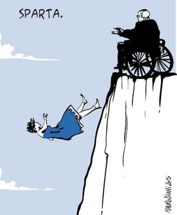 Grecia, tirada al abismo