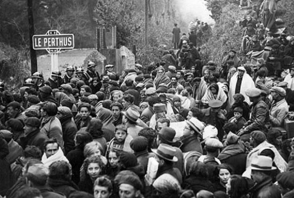 Éxodo de españoles con destino a Francia huyendo de la guerra provocada por el golpe de Estado sangriento contra la IIª República