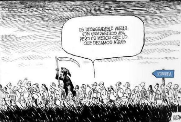 Aunque la muerte acompañe como riesgo a los inmigrantes y refugiados, no habrá alambradas que los detengan. Más pueden las guerras y el hambre.