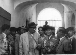 Elio Cruz en la plaza de toros de Algeciras
