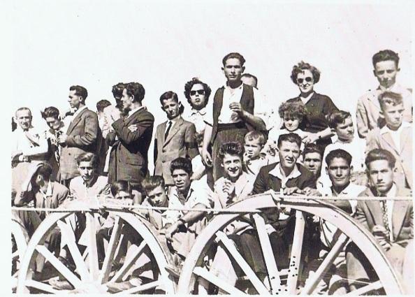 Novillada en la Estación de Jimena. 1955. Los toreros Alfonso y Doncel.
