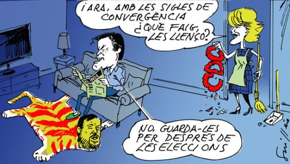 El tirón independista de Artur Mas llevó a la ruptura de CDC, así como el deblegamiento de ERC de no ir separado en lista propia