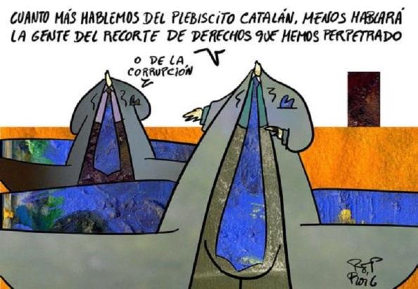 El debate plebiscitario ha hecho ocultar los problemas reales que padece Catalunya, Podemos, la principal víctima de esa sinrazón, sin excluir otros motivos que le han llevado a obtener unos malos resultados.