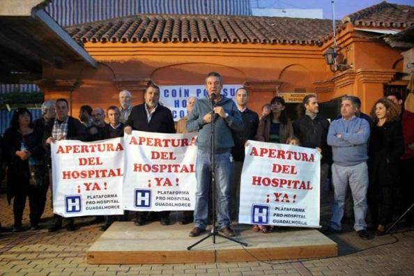 Alcaldes de la Comarca del Guadalhorce por tener el Hospital Comarcal