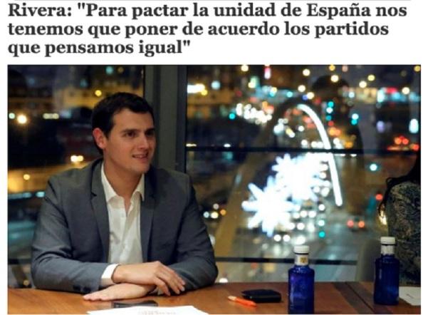 El último viraje de Albert Rivera tras haberse entregado previamente a Rajoy