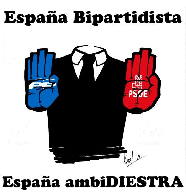 El 20-D, previsto el fin dell bipartidismo que ha presidido la democracia española