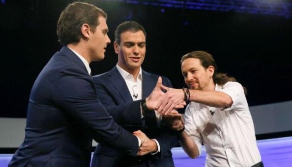Albert Rivera, Pedro Sánchez y Pablo Iglesias, una nueva generación que releva a la clase política del pasado