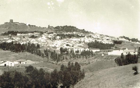 Panorámica de aquella Jimena de la Frontera (Cádiz) que me vio nacer y crecer. 1962.