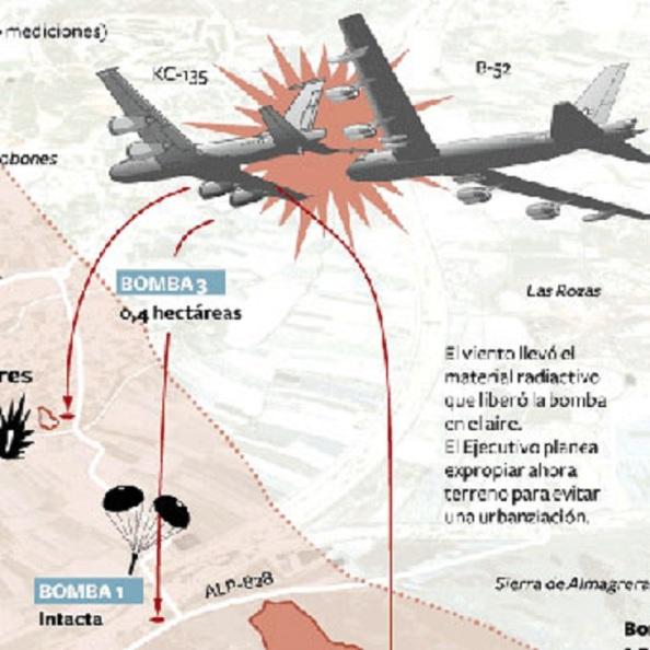 El choque de los dos aviones en el cielo de Palomares