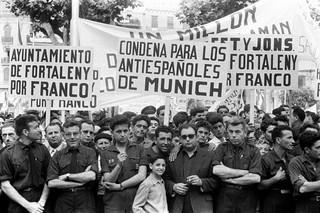 Manifestación franquista contra el `Contuberno´ de Múnich´
