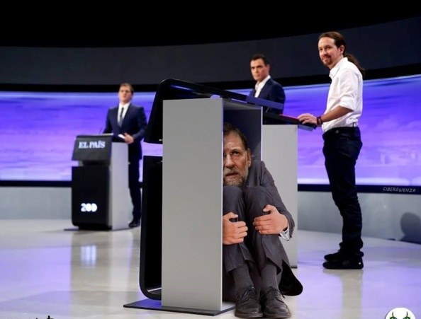 Rajoy, huye del debate que debería estar obligado por la Ley Electoral