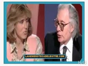 Mercedes Milá y Francisco Umbral. Antena 3 TV
