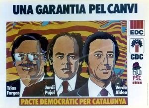 Cartel del Partido de Jordi Pujol. 1977