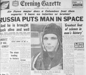 El impacto también mediático del primer ser humano que recorró el espacio: Yari Gagarin