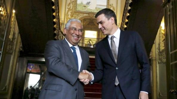 Pedro Sánchez con Antonio Costa. Lisboa 08.01.2016