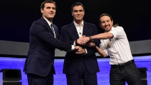 El pacto que no ha sido: Albert Rivera, Pedro Sánchez y Pablo Iglesias