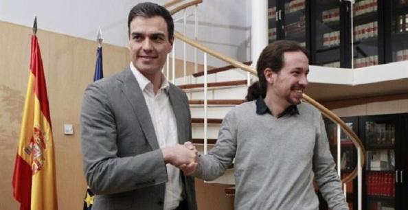 Pedro Sánchez y Pablo Iglesias, en conversaciones para la investidura