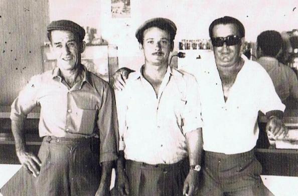 José Hormigo Durán, Francisco Ordóñez Vico y desconocido. Toto: Ediciones OBA