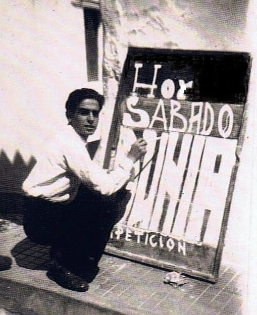 Gonzalo Torres Saavedra que se encargó de proyectar en una primera etapa las películas en el cine Capitol