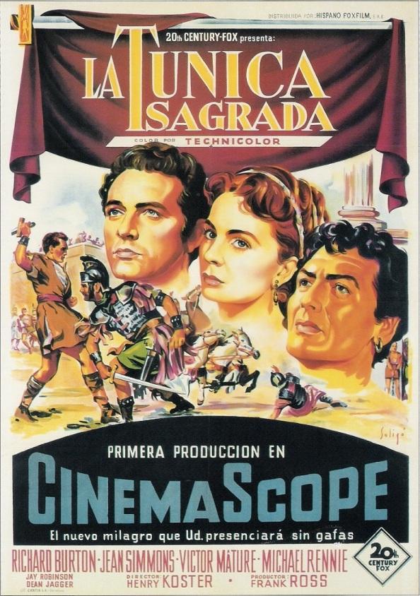 La primera película que se proyectó en el cine Capitol en Cinemascoope: La túnica sagrada