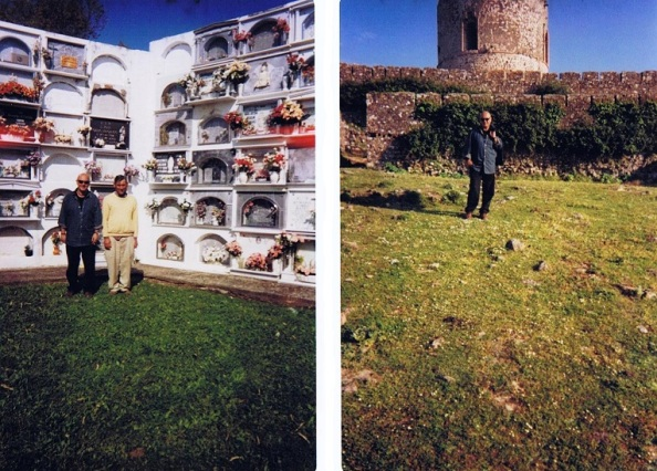 Visita al Castillo y al cementerio que está en su interior y donde me acompañó como espontáneo guía, Manolo Bautista