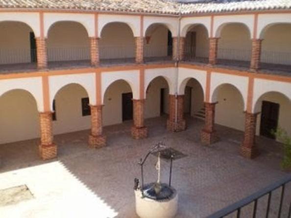 Patio del Claustro del Santuario tras su última remodelación. Año 2008.. Fuente: Eduardo Sáenz de Varona.