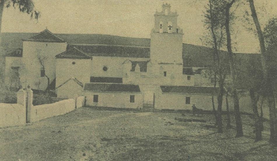 Santuario de Nuestra Señora de los Ángeles de La Estación. Años cuarenta del pasado siglo. Fuente: Eduardo Sáenz de Varona.